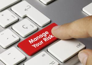 Manage your risk keyboard key finger